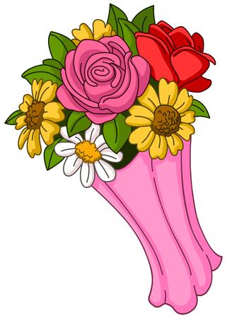 Wektor bukiet kwiatów