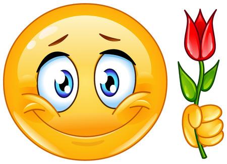 꽃과 함께 이모티콘
