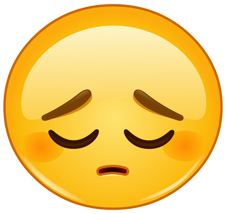 personas tristes: emoticon pensativa Vectores