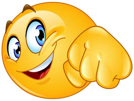 puños cerrados: Emoticon dando un golpe puño