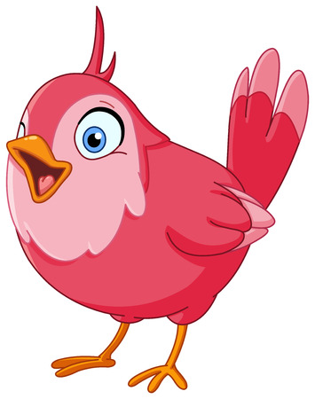 birdsong: Pink bird singing