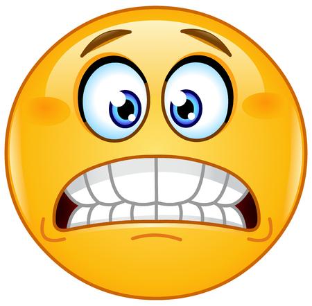 bared teeth: Grimacing emoticon showing bared teeth