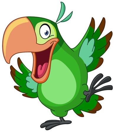 Szczęśliwy papuga taniec
