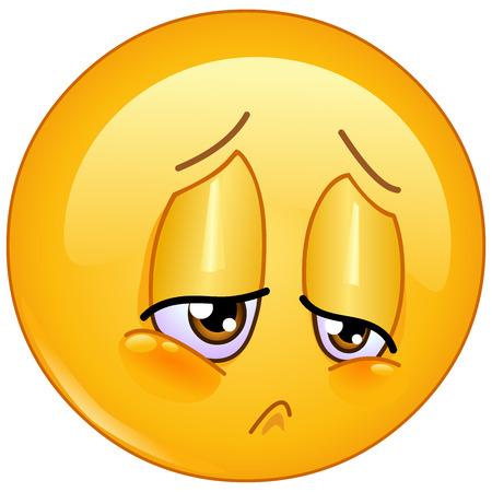 Sorrow and sad emoticon