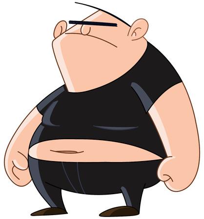 Bully man with a menacing look Illustration