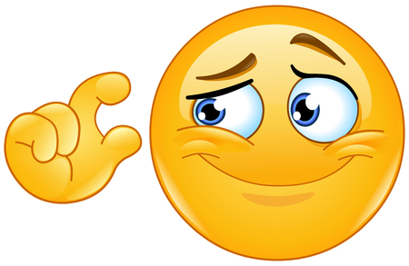 ridicule: It is too small. Emoticon showing small size with fingers.