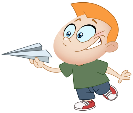 teenagers learning: Kid throwing a paper plane