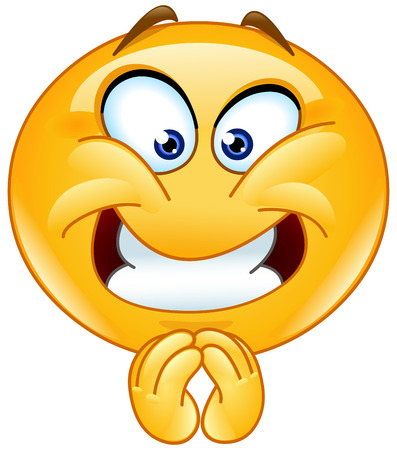 Emoticon with a pleasing expression