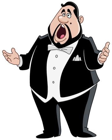 Male opera singer Stock Illustratie