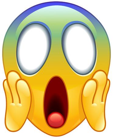 Krzyczy emotikonów emotikony z dwie ręce trzymając twarz