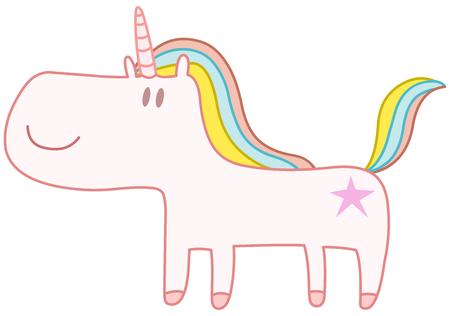 stars: Happy cute unicorn