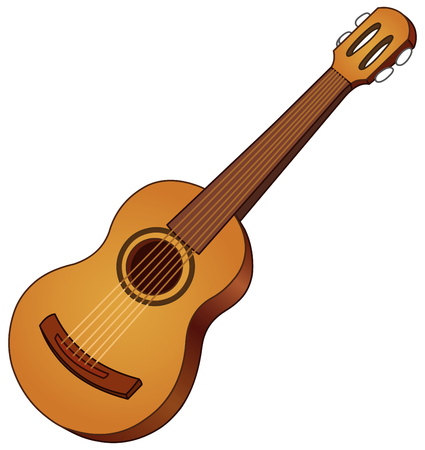 rock guitarist: Vector acoustic guitar Illustration