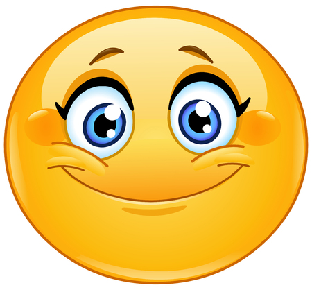 Emoticon smiling Stock Illustratie