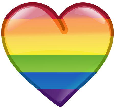 Rainbow pride LGBT heart icon design