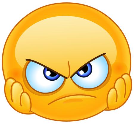 Enttäuschtes Emoticon mit den Händen im Gesicht Vektorgrafik