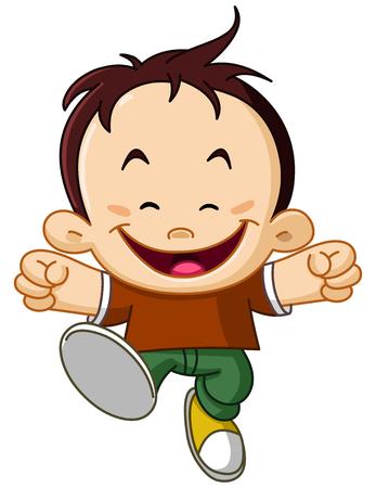 Happy joyful kid