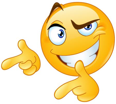 Émoticône donnant deux pouces vers le haut et pointant avec les doigts Vecteurs
