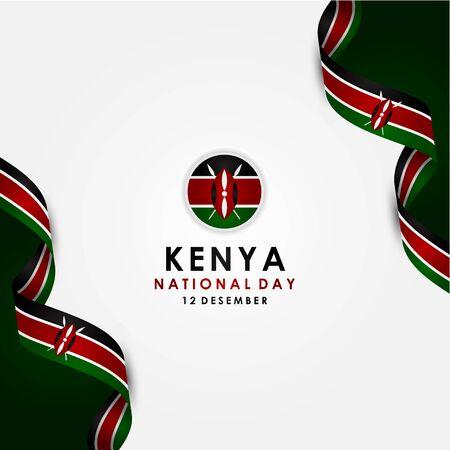 Modello di disegno vettoriale di Kenya Independence Day Vettoriali
