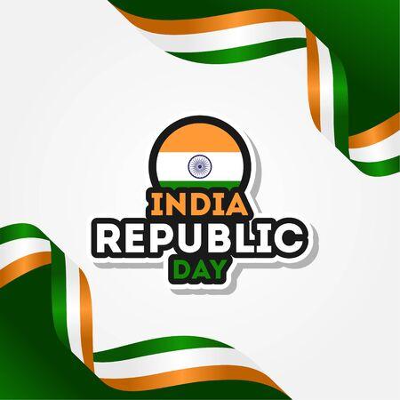 India Republic Day Vector Design Template