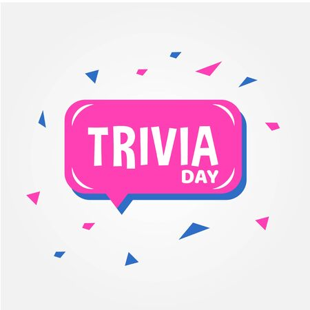 Trivia Day Vector Design Template For Celebrate