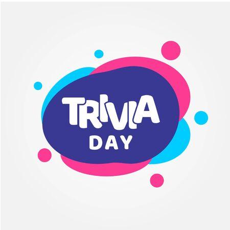 Trivia Day Vector Design Template For Celebrate Vector Illustration