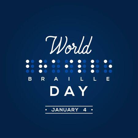 World Braille Day Vector Design Template