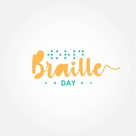 World Braille Day Vector Design Template