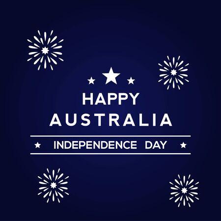 Happy Australia Day Design Template Background