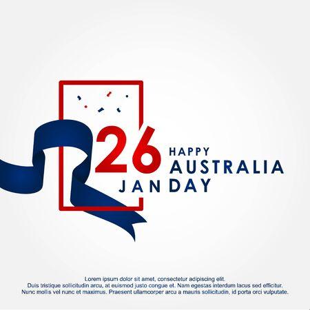 Happy Australia Day Design Template Background 스톡 콘텐츠 - 136444077