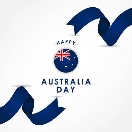 Happy Australia Day Design Template Background 스톡 콘텐츠 - 136444093