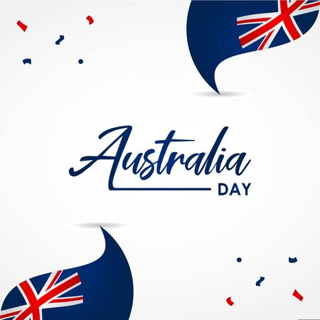 Happy Australia Day Design Template Background 스톡 콘텐츠 - 136444082