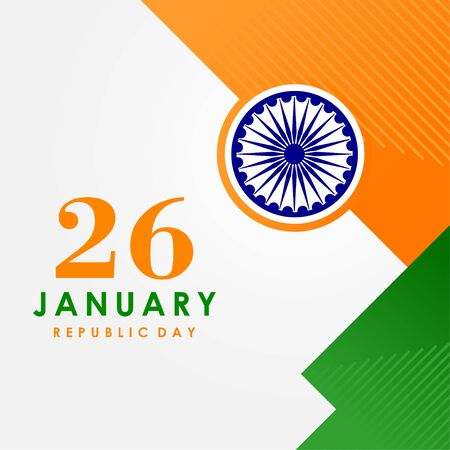 India Republic Day Vector Design For Banner or Background