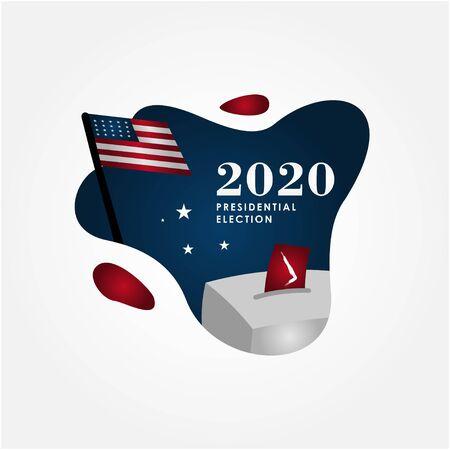 Président Election Day 2020 Vector Design pour bannière ou arrière-plan Vecteurs