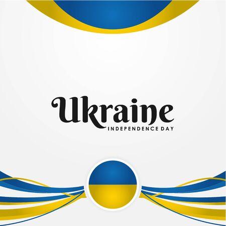 Diseño vectorial del día de la independencia de Ucrania para banner o fondo