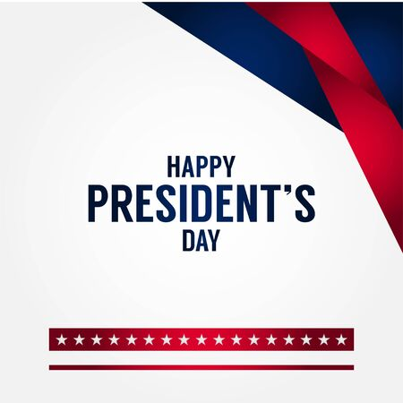 Presidents Day Vector Design For Banner or Background 일러스트