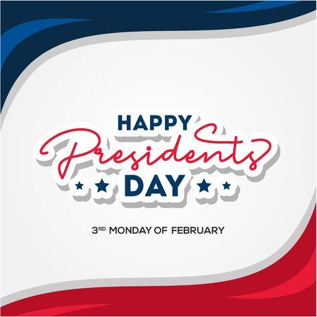 Presidents Day Vector Design For Banner or Background Ilustracje wektorowe