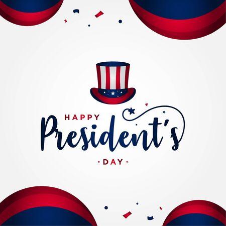 Presidents Day Vector Design For Banner or Background Illustration