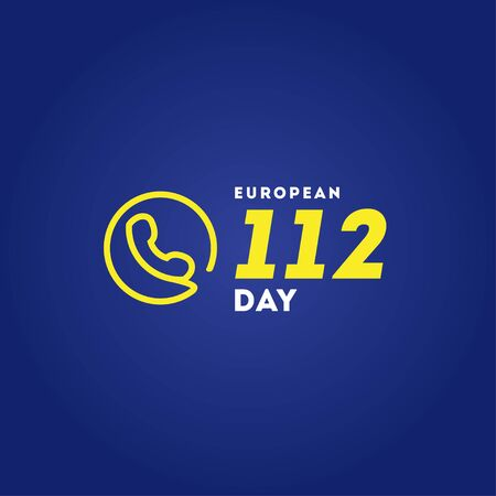 European 112 Day Vector Design For Banner or Background