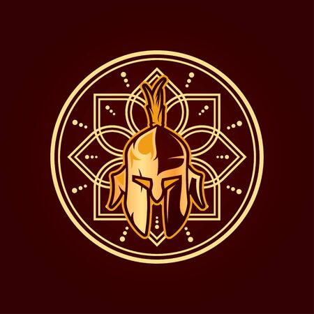 Knight Vector T-Shirt Designs With Mandala Background For Apparel