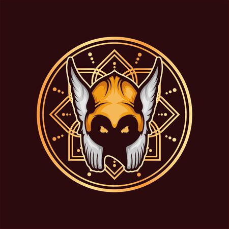 Viking Vector T-Shirt Designs With Mandala Background For Apparel