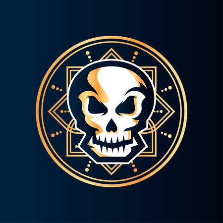 Skull Vector T-Shirt Designs With Mandala Background For Apparel