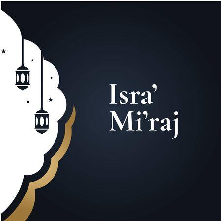 Isra Miraj Islamic Vector Design For Banner or Background Ilustração