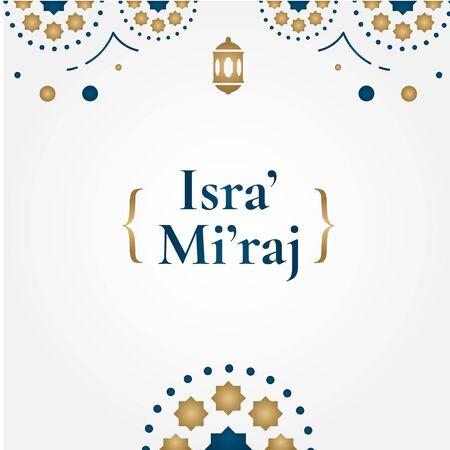 Isra Mi'raj Islamic Vector Design For Banner or Background