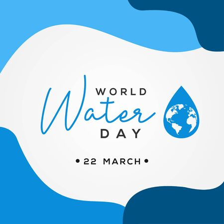 World Water Day Vector Design For Banner or Background
