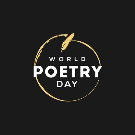 World Poetry Day Vector Design For Celebrate Moment  イラスト・ベクター素材