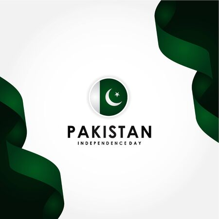 Pakistan Independence Day, National Day Vector Design For Celebrate Moment Vetores