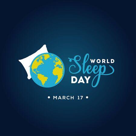 World Sleep Day Vector Design For Banner or Background 向量圖像