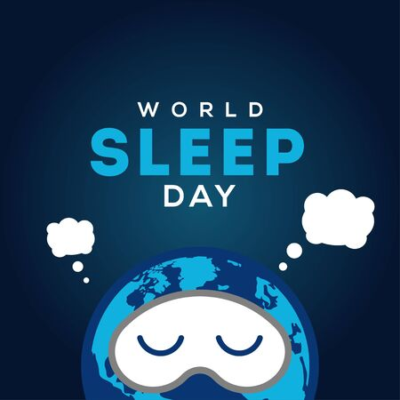 World Sleep Day Vector Design For Banner or Background 向量圖像