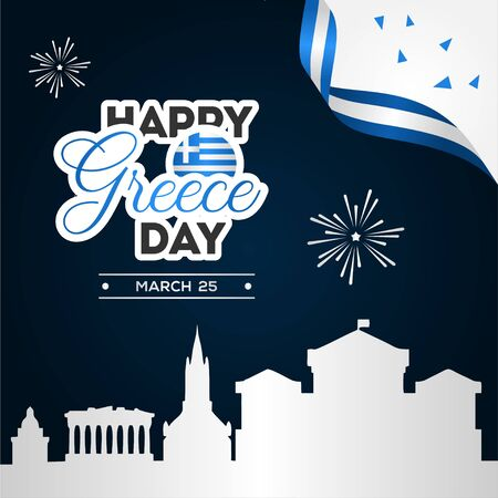 Greece Independence Day Vector Design For Banner or Background