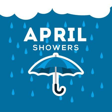 April Showers Vector Design For Banner or Background Vecteurs